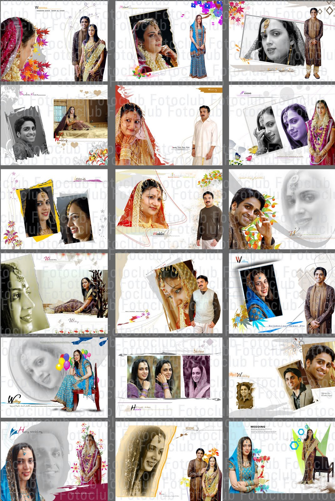 Indian Wedding Album Templates